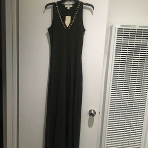 Michael Kors maxi olive green dress